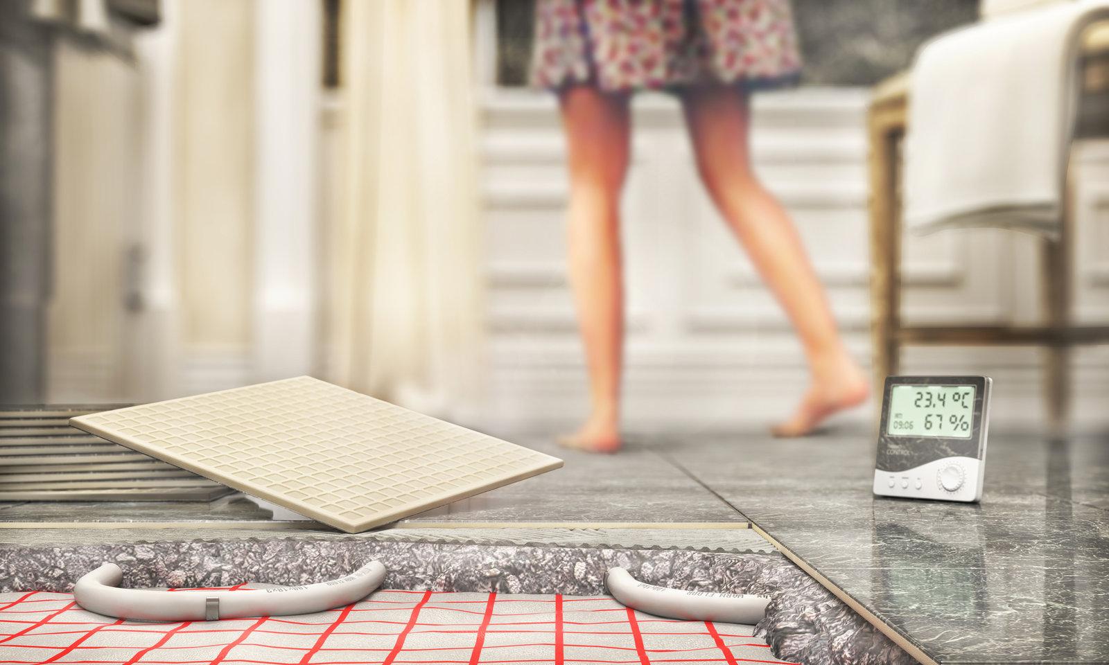 Chauffage Au Sol Electrique Pose plancher chauffant : électrique ou hydraulique ?
